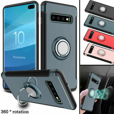 For Samsung Galaxy S10,Note 9, S9, S8 Shockproof Ring Holder Kickstand Case Cove