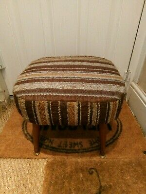 Sherborn Mid-Century  Original 1960s/70s  Vintage Foot Stool With Dansette Legs