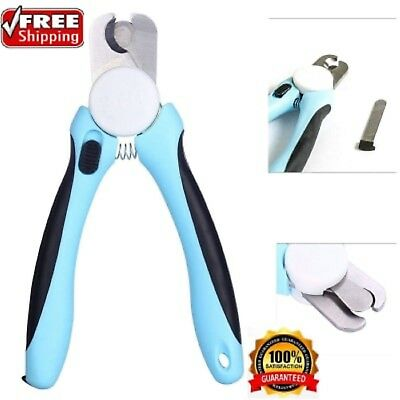 Cat Dog Nail Clippers Trimmer With Safety Guard to Avoid Over-cutting Nails Pet