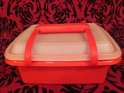 TUPPERWARE #1254 Storage Container Lunchbox Ice Cream Keeper w/ Handle Vintage