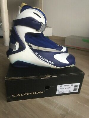 Rs9 Pilot New Ski Skate Boots Chaussures Salomon Size Fond Nordic Yfbgy76