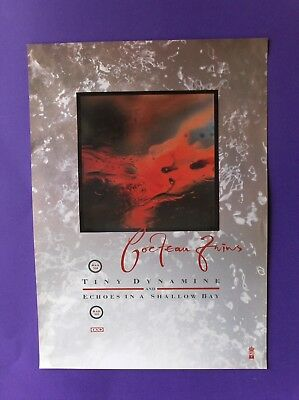 4AD Cocteau Twins Tiny Dynamine Echoes in a Shallow B ORIGINAL1985 PROMO POSTER