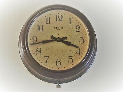 Vintage Bakelite Smiths 8 day mechanical Wall clock  industrial factory office