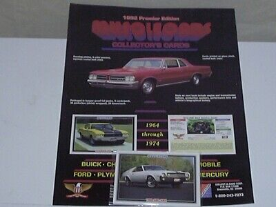 1992 Priemer Edition Muscle Car Cards - (7) Seven Cards - Amc Muscle- L@@K