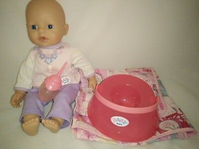Zapf Creations My First Baby Annabelle Little Baby Born Doll Drinks/Wees onPotty