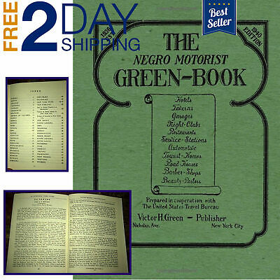 52 Pages The Negro Motorist Green-Book Le Edition Travel Guide New Paperback