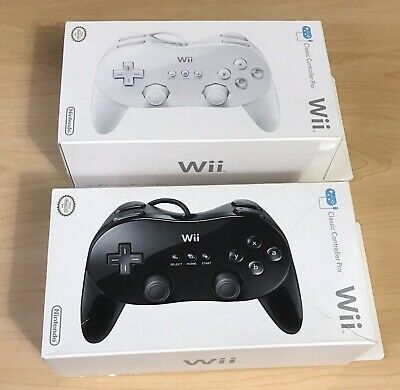 Two SEALED Nintendo Wii Classic Controller Pro Black and White READ DESCRIPTION
