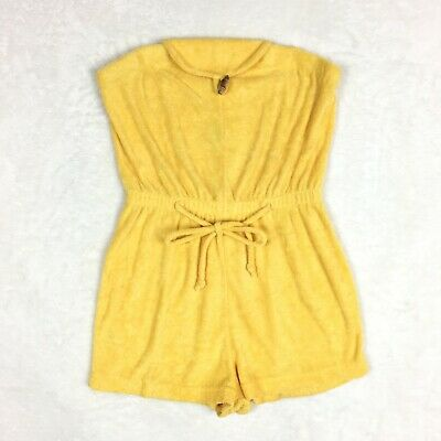 acec6761f1de VINTAGE SEARS TERRY Cloth Romper Size Small Coverup Beach Spring Yellow 60s  70s -  34.99