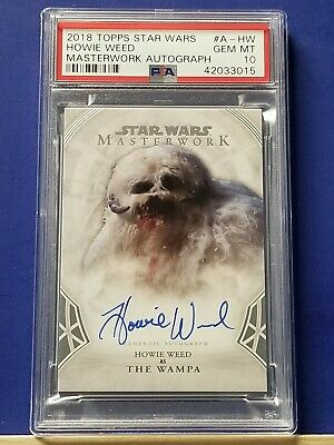 Howie Weed as The Wampa - 2018 Star Wars Masterwork Autograph   PSA 10