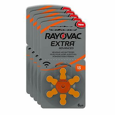 Rayovac Extra Advanced Hearing Aid Batteries, Size 13, Orange Tab, PR48, Pack o