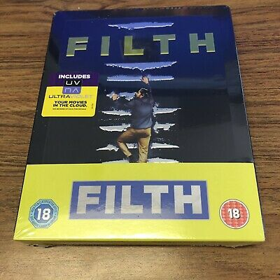 Filth BLU-RAY Limited Edition STEELBOOK (UK PAL) BRAND NEW SEALED Region B