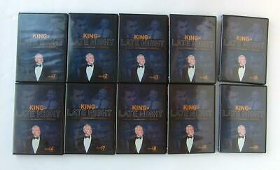 Johnny Carson King of Late Night The Tonight Show DVD set of Discs 1 to 10