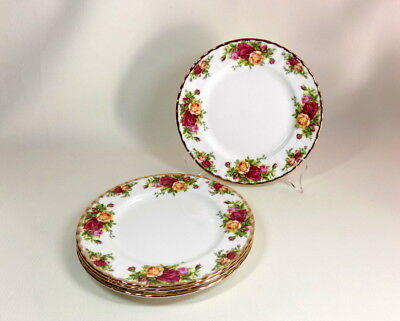 "Lot of 4 - Royal Albert ""Old Country Roses"" Salad Plates 8 1/8"" - Indonesia"