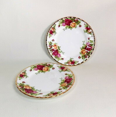 "Lot of 2 - Royal Albert ""Old Country Roses"" Bread / Butter Plate 6.25"" Indonesia"