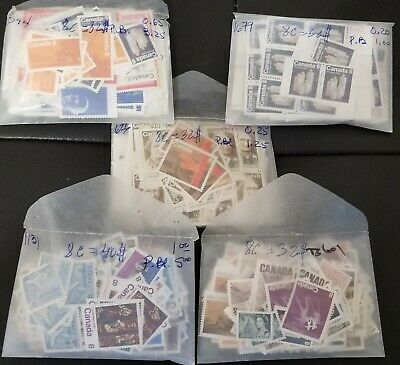 DISCOUNTED Canada Postage Lot $168 Face Value - 8c blocks & singles,ALL MNH