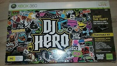 Xbox 360 Dj Hero Turntable With Game- Vgc