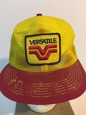 695456f7236a5 Vintage Versatile K Brand Products USA Men s Snapback Trucker Hat Seed  Patch Ag