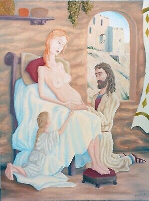 "Expressionist Oil Painting of Christ Titled ""Family of Jesus"" by Twain Tipton"
