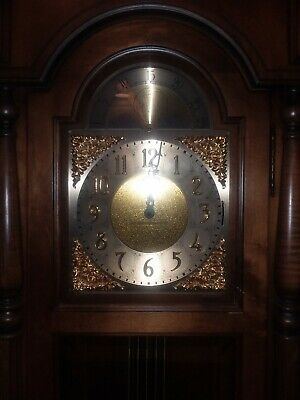 Vintage Haward Miller Grand Father Clock Model 610 280 Mint Condition