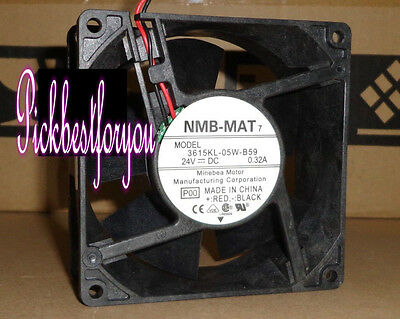 1pcs NMB 3615KL-05W-B59 fan 90*90*38mm DC24V 0.32A 3pin #MF52 QL