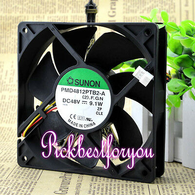 Sunon PMD4812PTB2-A.(2).GN DC 48V 9.1W 120x120x25mm 3Pin Cooling Fan #MF80 QL
