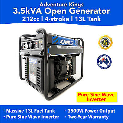 3.5 kVA Open Generator Petrol Pure Sine Wave Inverter Genset