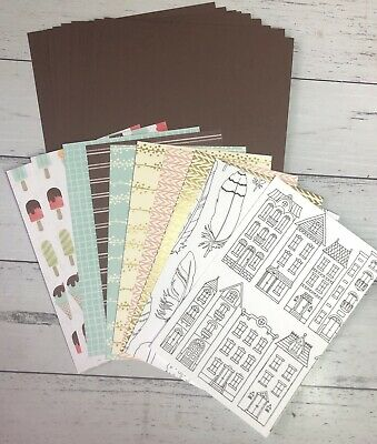 RETIRED Stampin' Up! Card Pack 10 card bases & 10 DSP Card Fronts