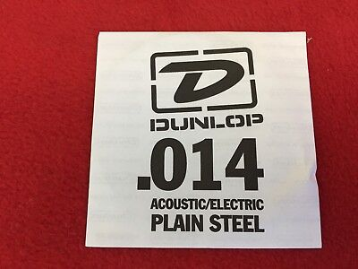 Dunlop Guitar String - Acoustic/Electric - .014 - Plain Steel - Single String -