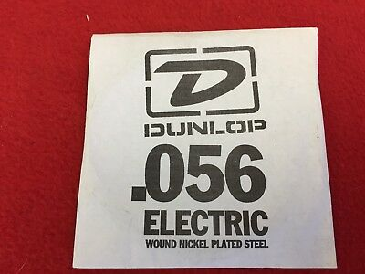 Dunlop Guitar String - Electric - .056 - Wound Nickel Plated Steel - Single -