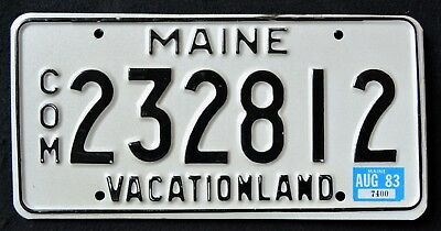"MAINE "" 1983 VACATIONLAND - COMMERCIAL "" ME Vintage Classic License Plate"