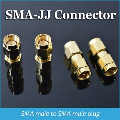 SMA-JJ Male To Male Plug RF Connector Coupler Straight Coaxial Adapter
