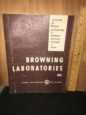 Browning Laboratories Multiplex Receivers & Tuners Operating Manual.