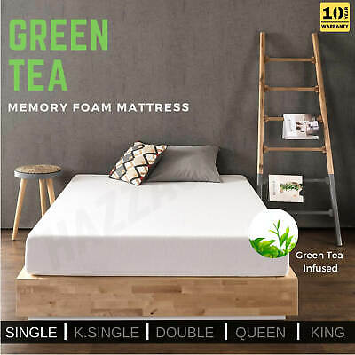 Memory Foam Mattress Green Tea Infused Bedding SINGLE Bed Size Non Spring