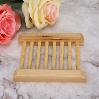 Natural Bamboo Wood Shower Soap Tray Dish Storage Holder Plate for Bathroom
