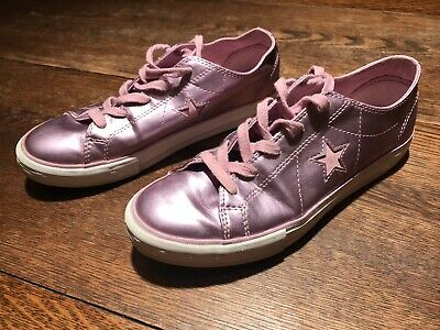 a2f910e02afd9a Converse One Stars Sneakers Women s Size 5 Metallic Rose Pink Shoes