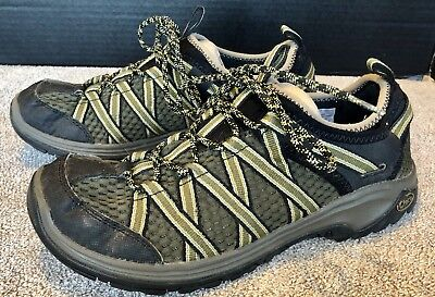 112f6727bbcc Chaco Outcross Evo 2 Size 8.5 Mens Hiking Water River Outdoor Shoes Olive  Brown