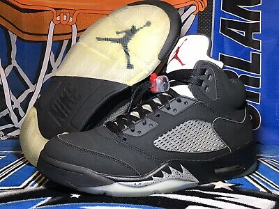c2ec2e81c28e3f 2016 Nike Air Jordan 5 V Retro OG Black Metallic Silver Size 12 845035-003