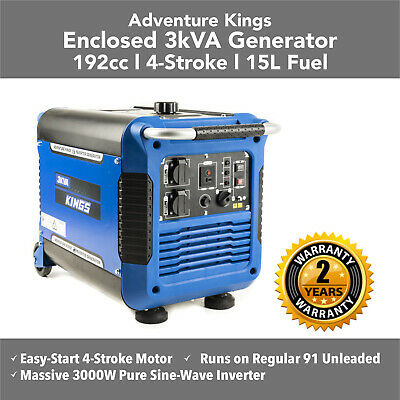 New Camping Petrol 3KVA Closed Generator Inverter Genset Portable Camping