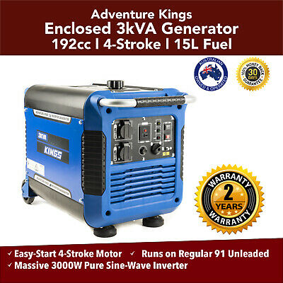 3KVA Portable Inverter Generator Camping Inverter Adventure King  Outdoor Petrol