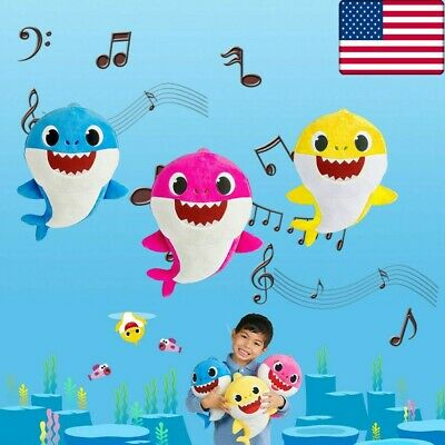 New 30CM LED Sing Song Baby Shark Pulsh Doll Toys Soft For kids baby Gift