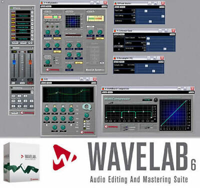 Steinberg Wavelab 6 Audio Editing & Mastering Suite for Windows + Waves Plugins