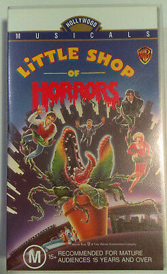 Little Shop of Horrors VHS 1986 Rick Moranis Hollywood Musicals 1993 WB Small