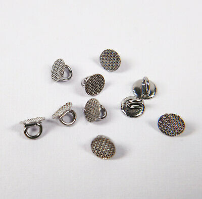10Pc Dental Ortho Lingual buttons~Round Mesh Direct Bond~Traction Crimpable Hook