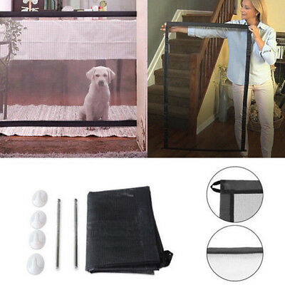 1x Mesh Magic Pet Dog Gate Safe Guard And Install Anywhere Pet Safety Enclosure