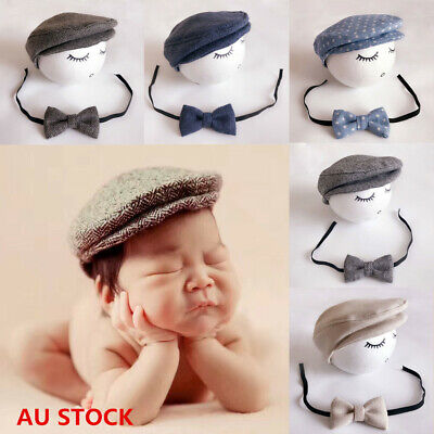 Baby Cute Newborn Peaked Beanie Cap Hat Baby Boys Girls Photography Prop 0-1M AU