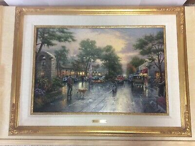 2c1bc7bf993 Thomas Kinkade Carmel Sunset on Ocean Avenue 18 x 27 Studio Proof 20 200  Canvas