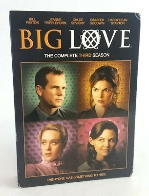 BIG LOVE DVD Season 3 Complete Set Bill Paxton HBO Series Bonus Features Drama