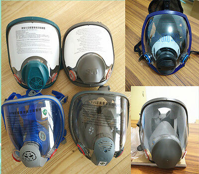 Sjl Full Face 6800 7 Piece Gas Mask Pesticides Facepiece Respirator Painting Spraying 6001 Filter Cartridge Chemical Medicine Factories And Mines Festive & Party Supplies