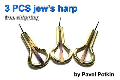 Jew's harp 3 PCS (jaw harp, khomus, mouth harp) by Pavel Potkin, standard size