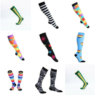 1 / 2Pair Compression Socks For Women Men Medical Nursing Travel Crossfit Sports
